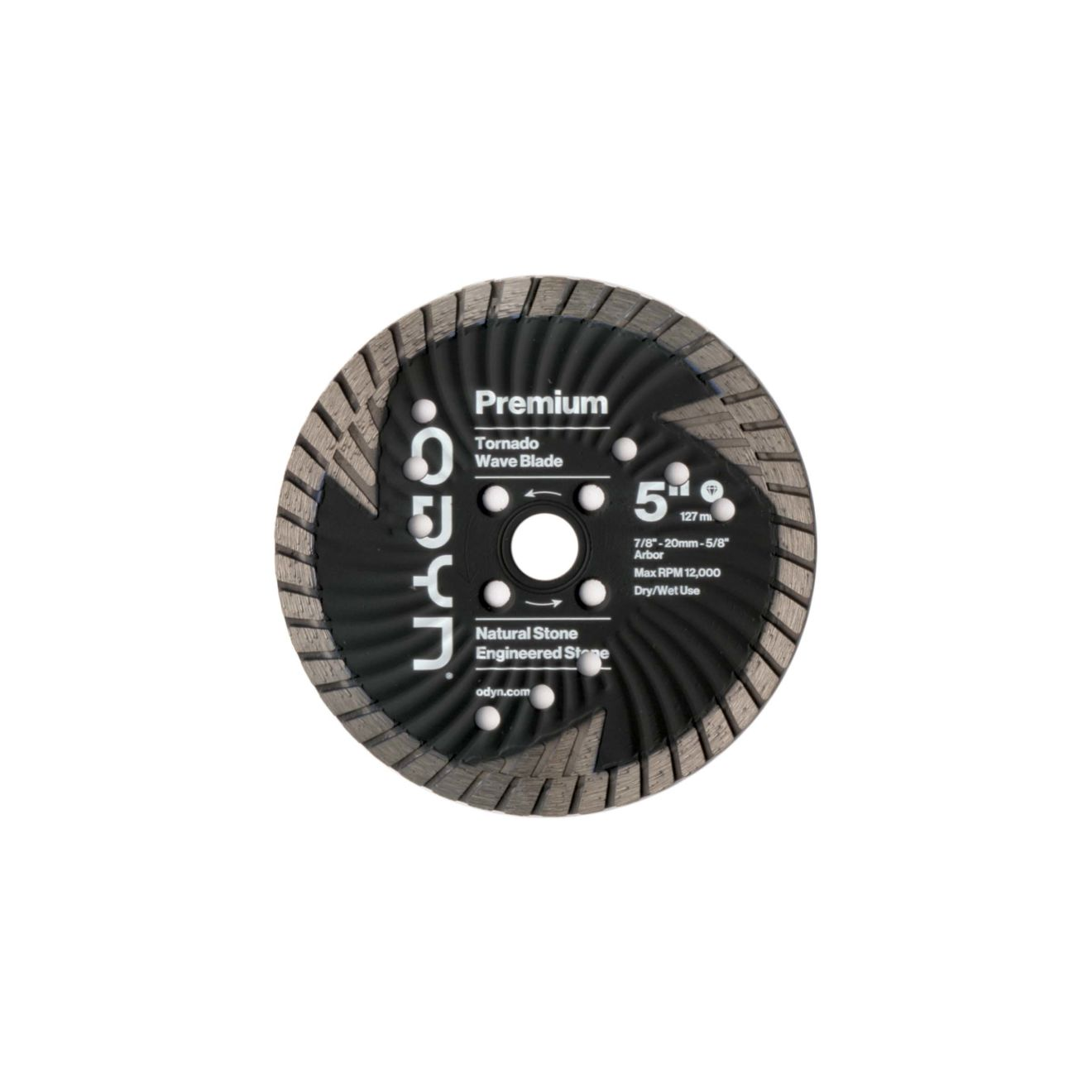 Odyn 5 in. Premium Tornado Wave Blade