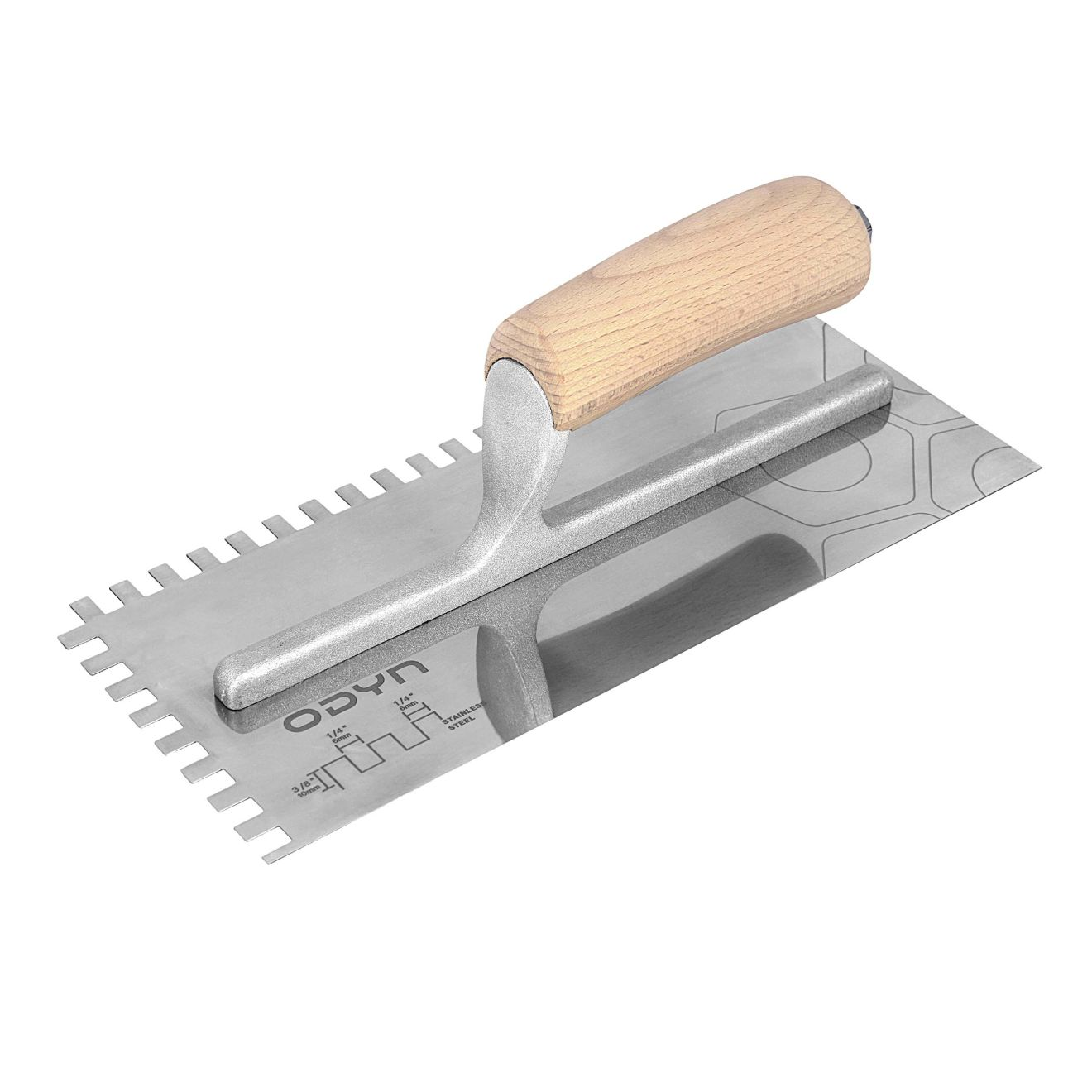 Odyn 11 in. x 1/4 in. x 3/8 in. Square-Notch Stainless Steel Trowel