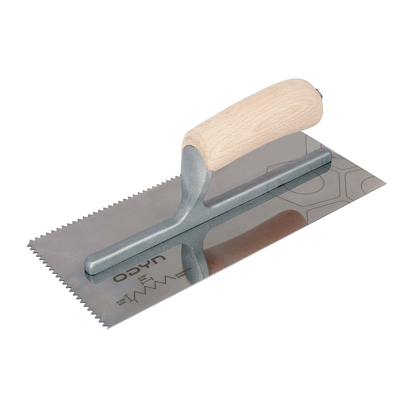 Odyn 11 in. x 3/16 in. x 5/32 in. V-Notch Stainless Steel Trowel