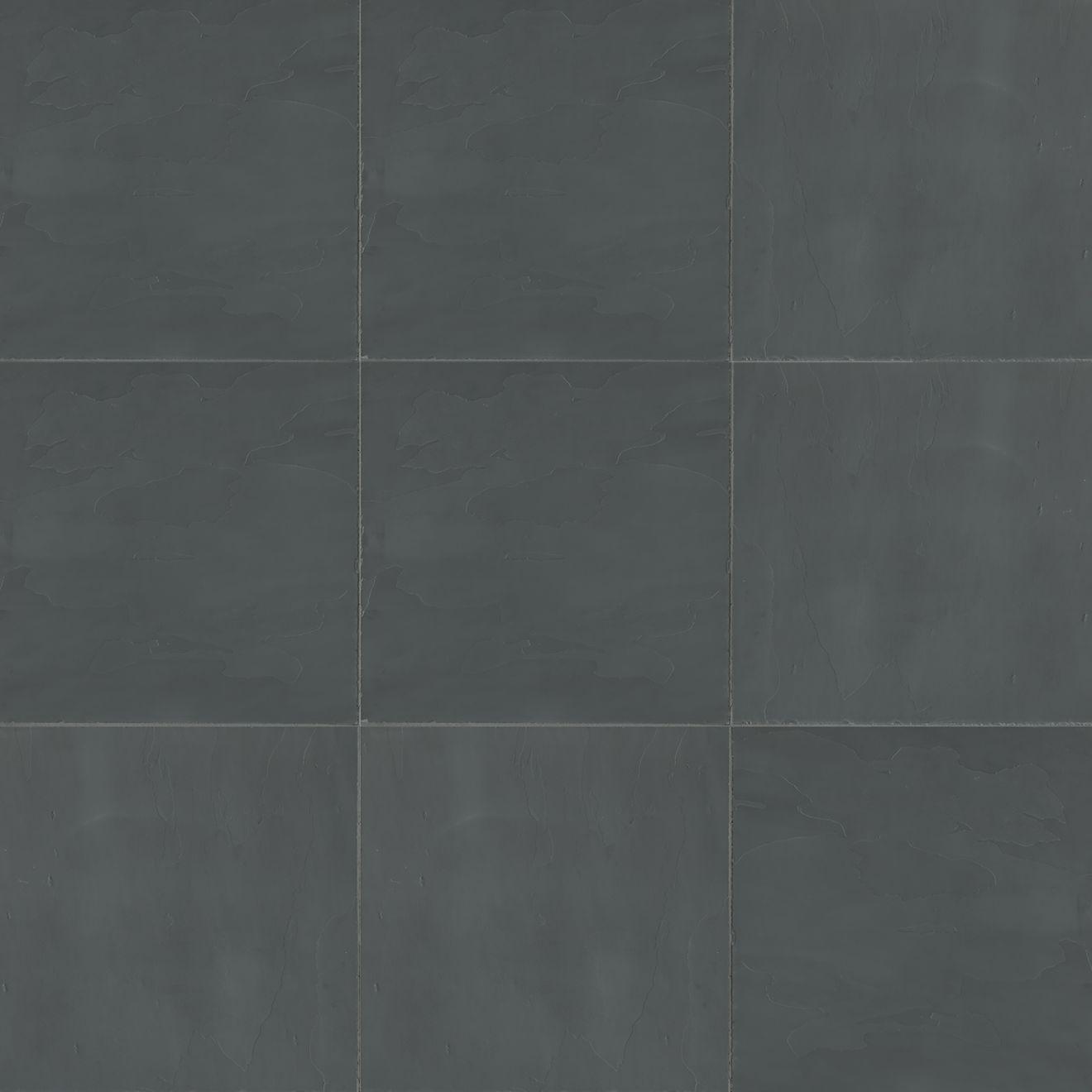 "Andhra Black 16"" x 16"" Floor & Wall Tile"