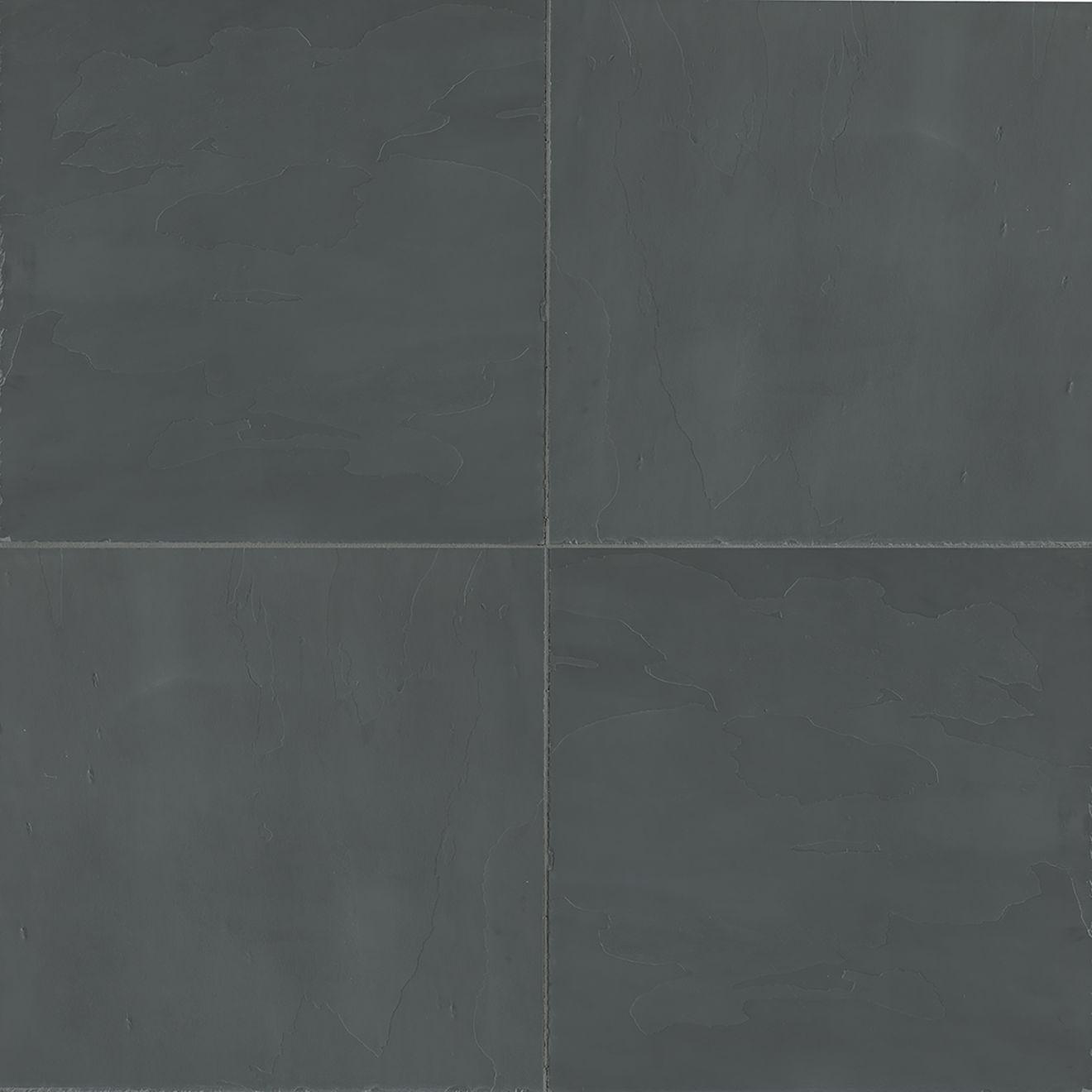 "Andhra Black 24"" x 24"" Floor & Wall Tile"