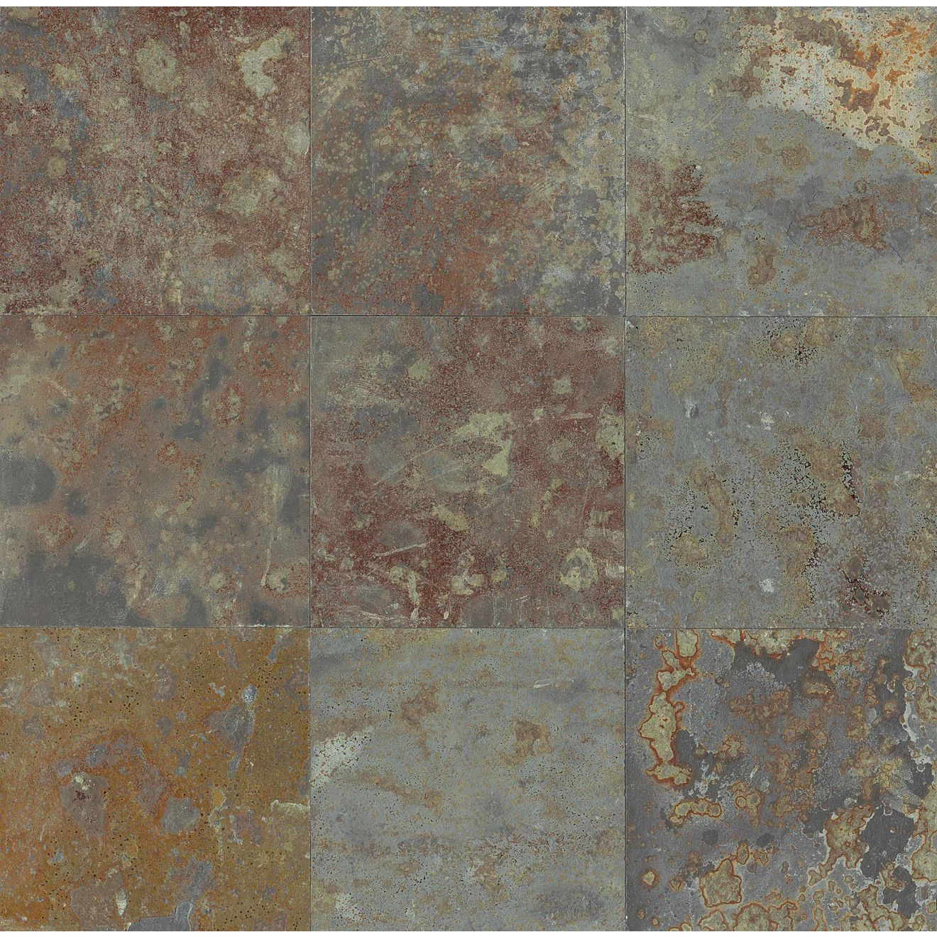 "Brazilian Multicolor 12"" x 12"" Floor Tile"