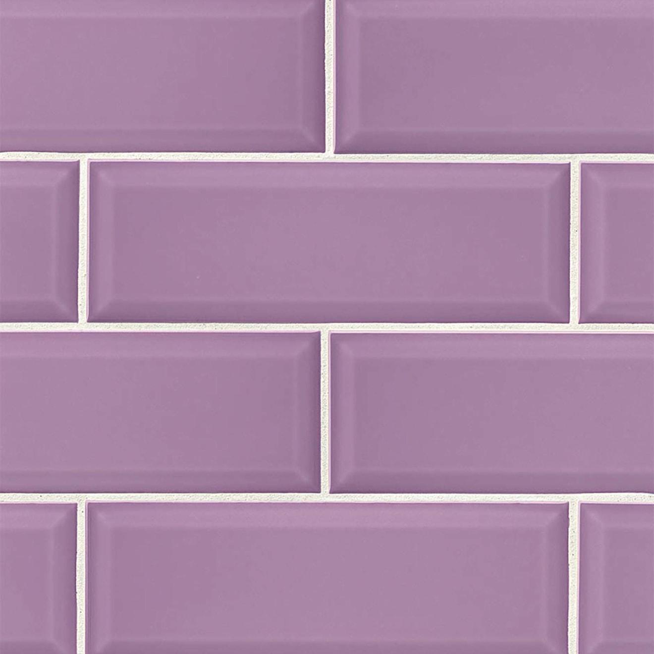 "Adamas 4"" x 12"" Wall Tile in Viola"