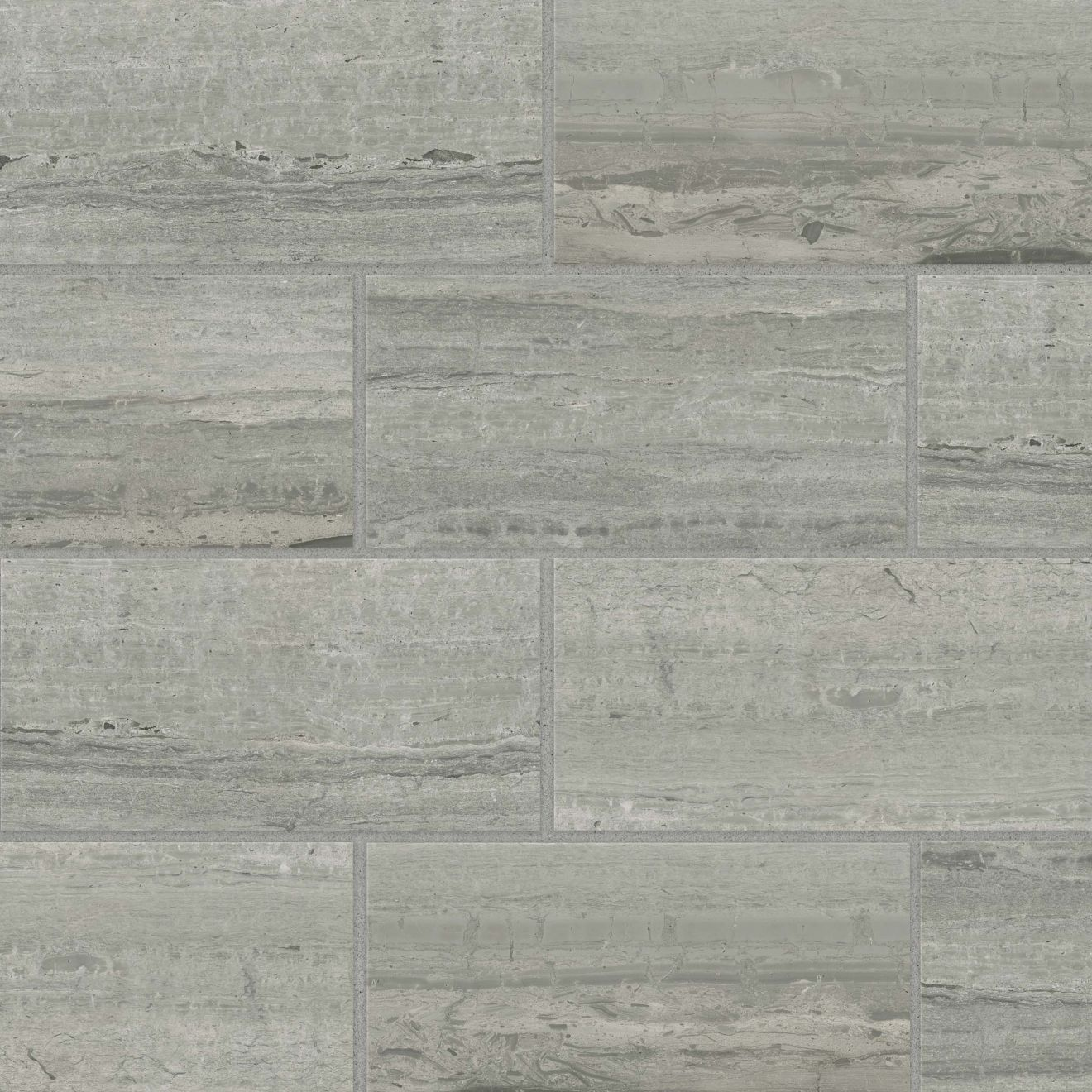 "Classic 2.0 12"" x 24"" Floor & Wall Tile in Travertino Grigio"