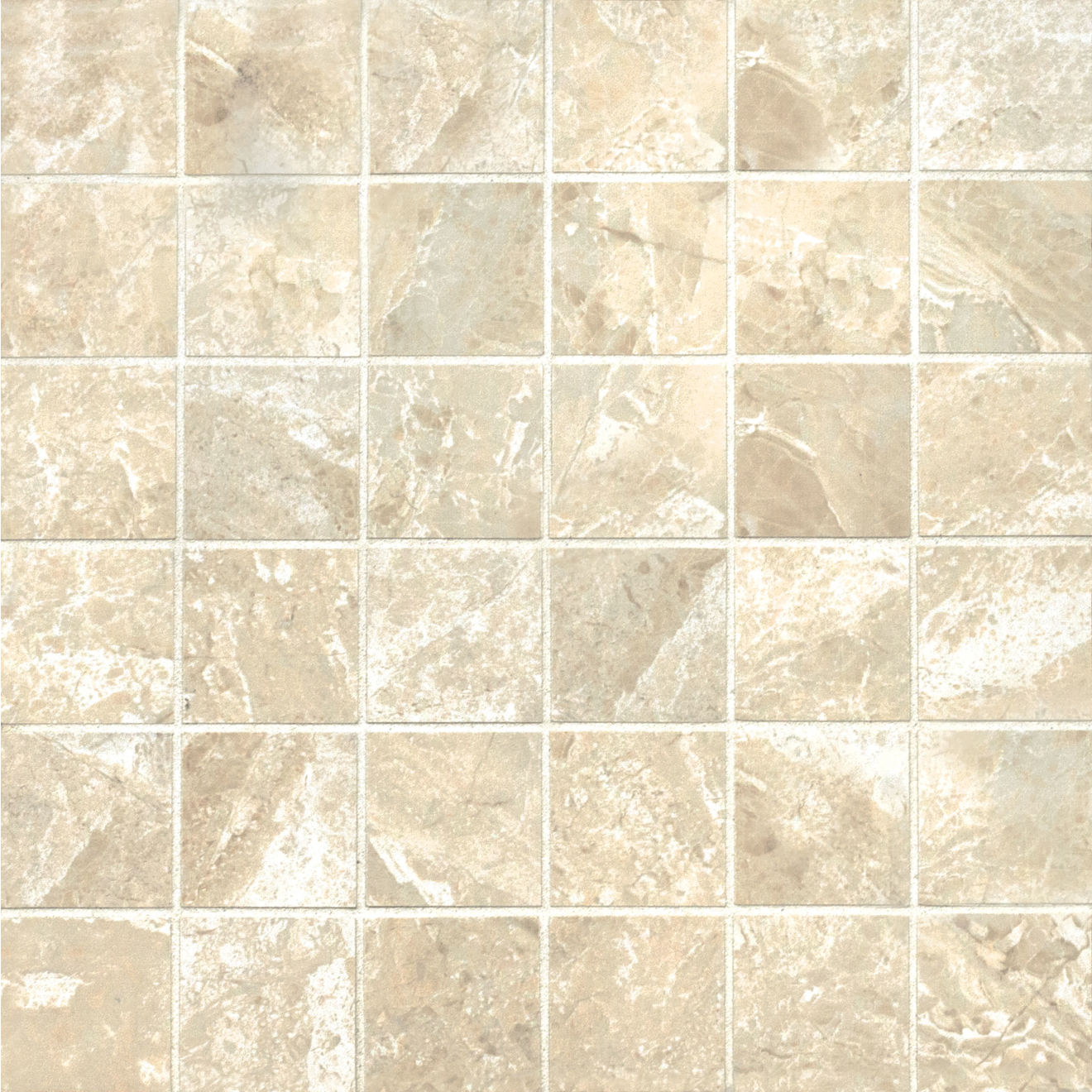 "Classic 2"" x 2"" Floor & Wall Mosaic in Cremino"