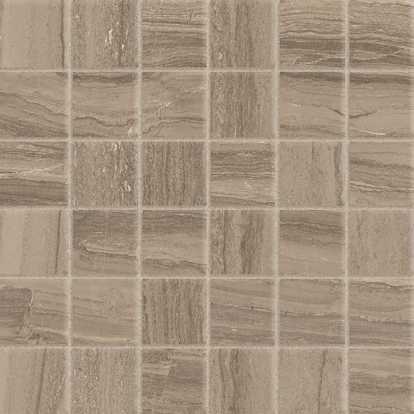 "Highland 2"" x 2"" Floor & Wall Mosaic in Beige"