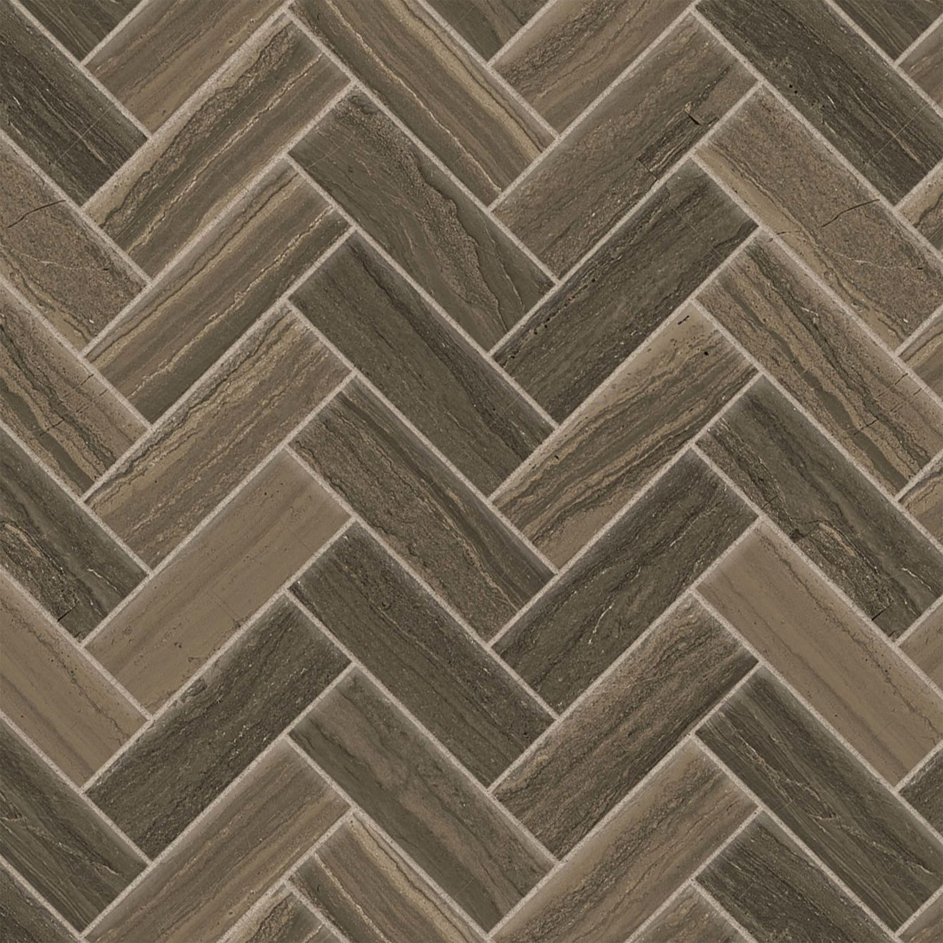 "Highland 1"" x 4"" Floor & Wall Mosaic in Cocoa"