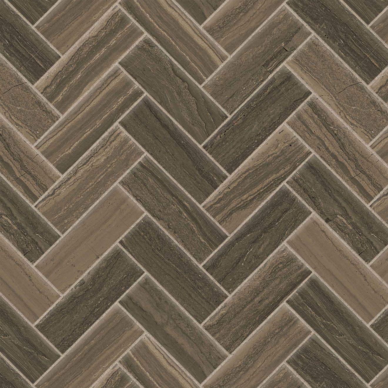"""Highland 1"""" x 4"""" Floor & Wall Mosaic in Cocoa"""
