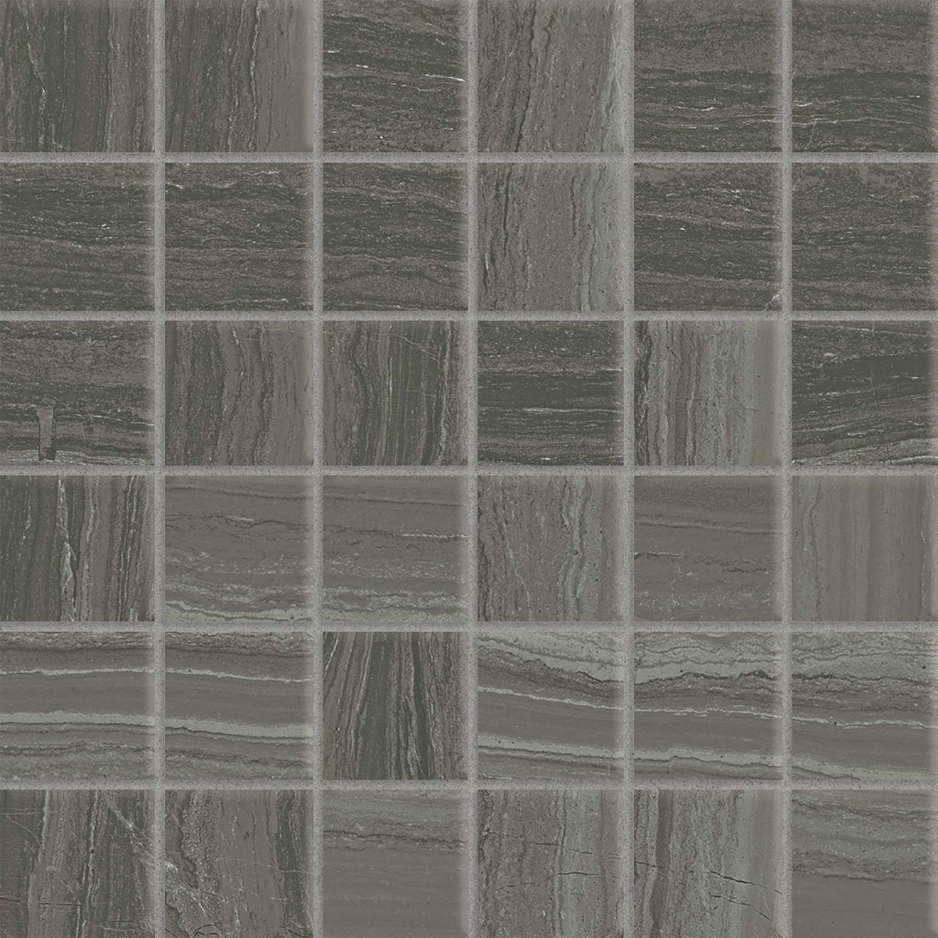 "Highland 2"" x 2"" Floor & Wall Mosaic in Dark Greige"