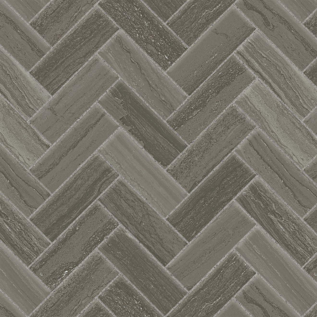 "Highland 1"" x 4"" Floor & Wall Mosaic in Dark Greige"