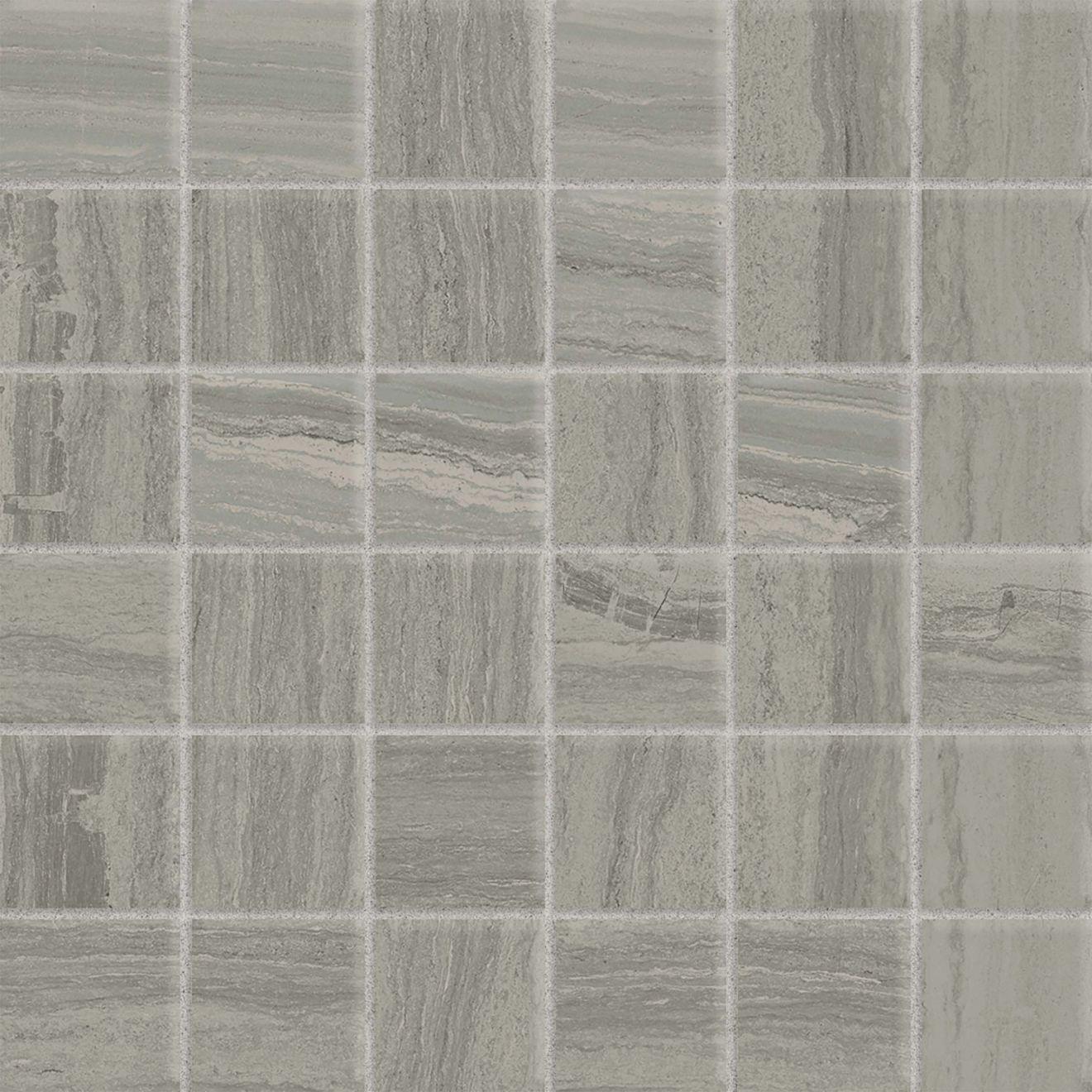 "Highland 2"" x 2"" Floor & Wall Mosaic in Greige"