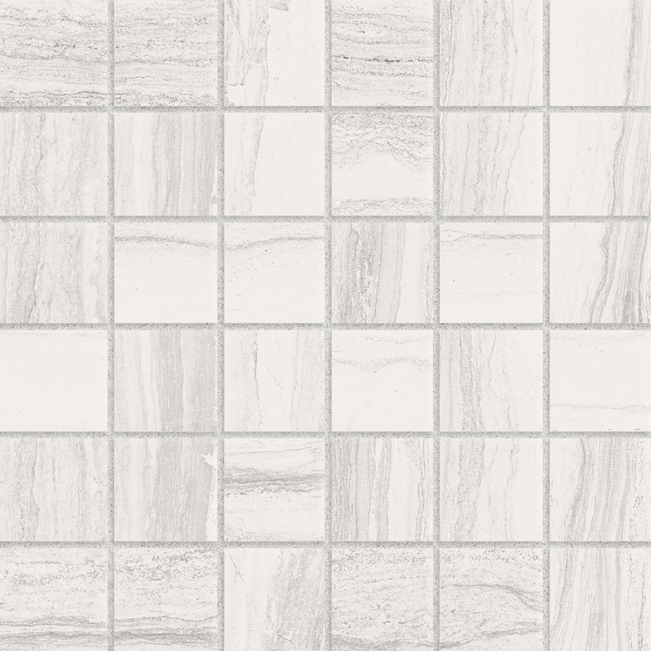 "Highland 2"" x 2"" Floor & Wall Mosaic in White"