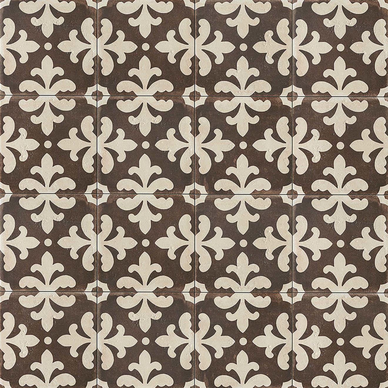 "Palazzo 12"" x 12"" Decorative Tile in Antique Cotto Florentina"