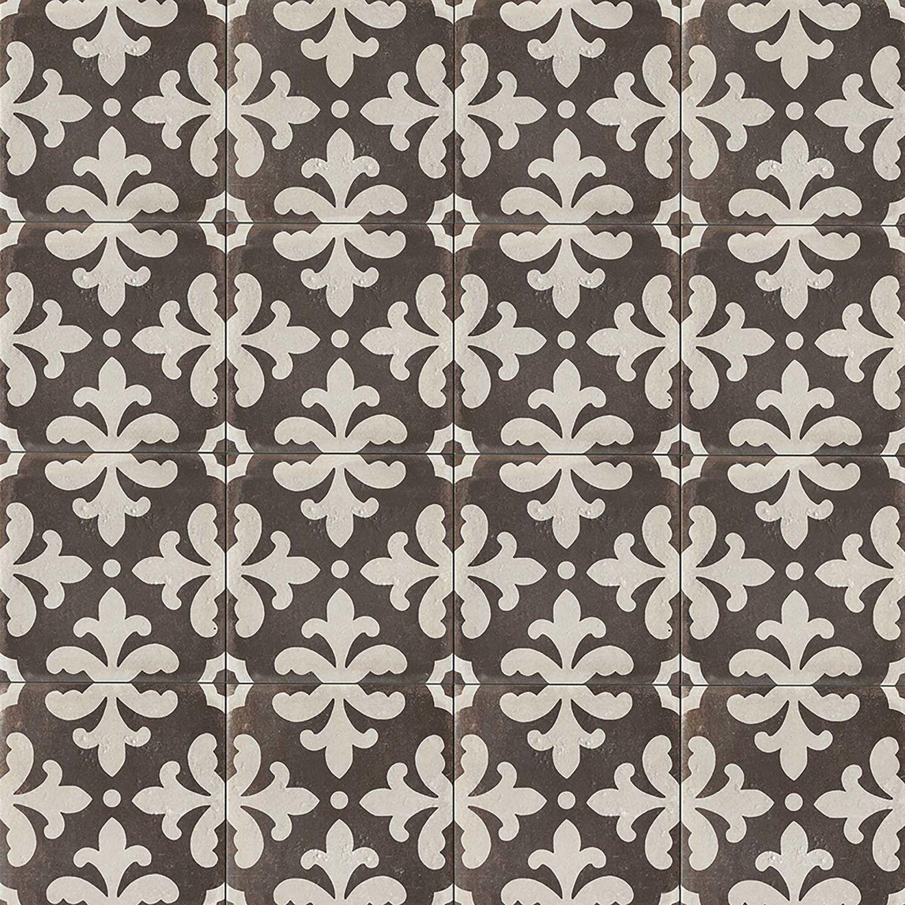 """Palazzo 12"""" x 12"""" Decorative Tile in Castle Graphite Florentina"""