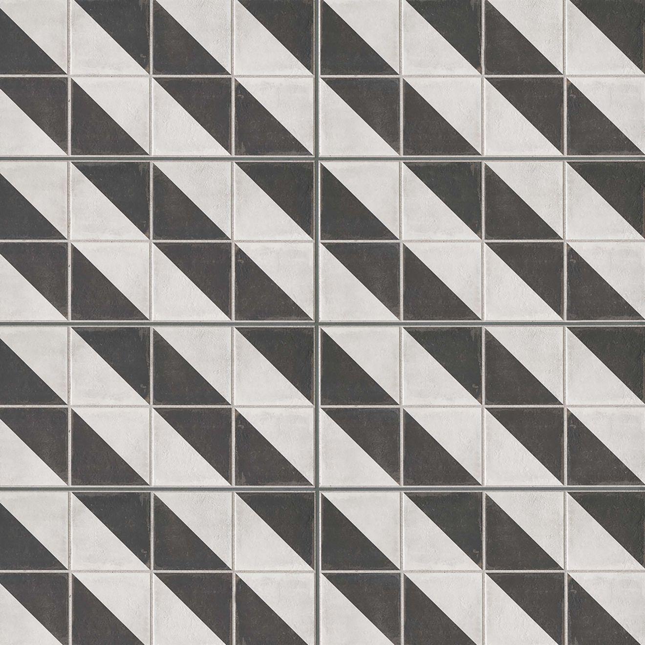 Palazzo 12.00 x 24.00 Decorative Tile in Castle Graphite Villa