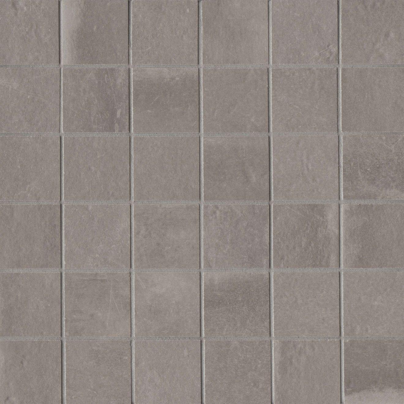 "Palazzo 2"" x 2"" Floor & Wall Mosaic in Vintage Grey"