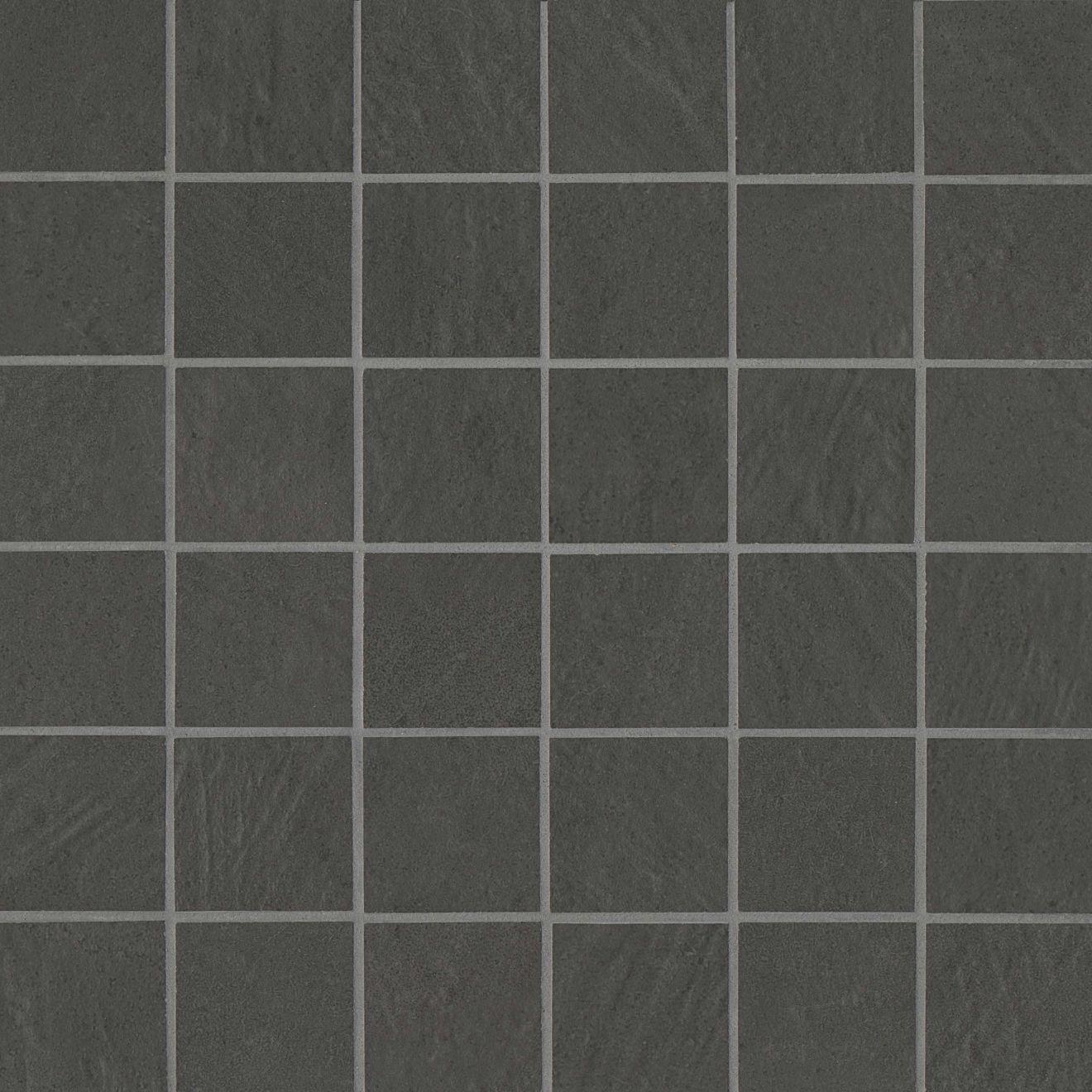 "Simply Modern 2"" x 2"" Floor & Wall Mosaic in Black"
