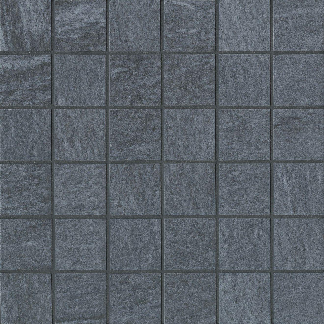 "Urban 2.0 2"" x 2"" Floor & Wall Mosaic in Raven Black"