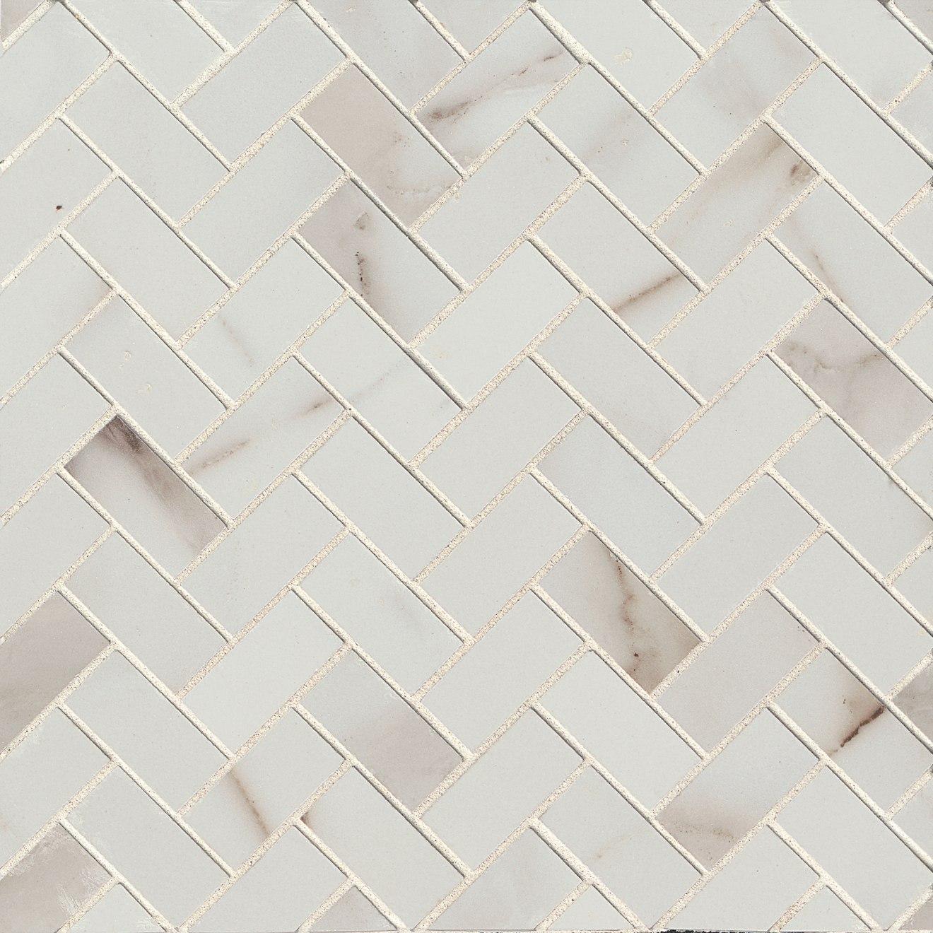 """Calacatta 1"""" x 2"""" Floor & Wall Mosaic"""