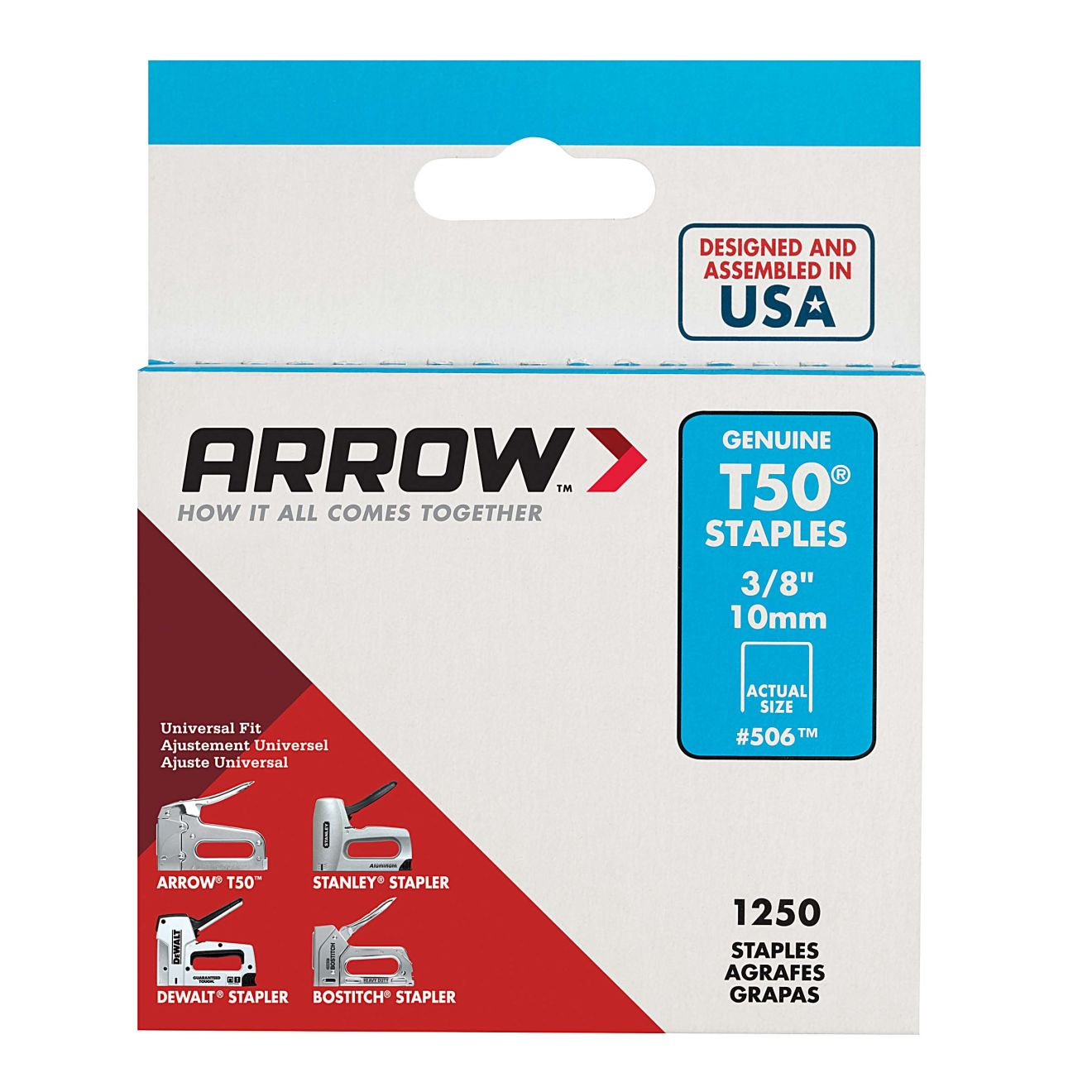 Arrow T50 3/8 in. Staples (1250-Pack)
