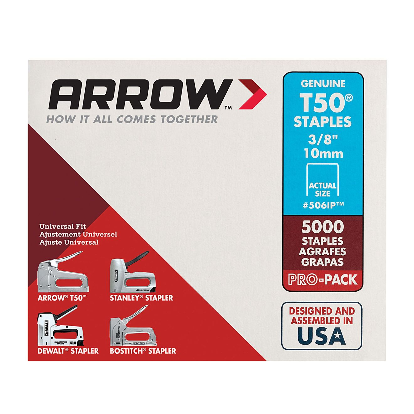 Arrow T50 3/8 in. Staples (5000-Pack)