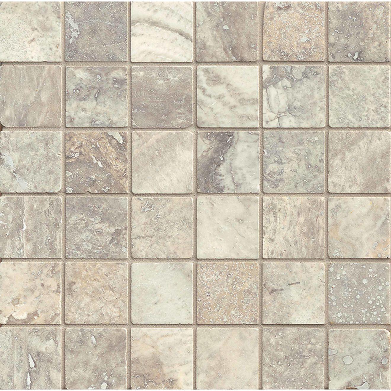 "Silver Mist 2"" x 2"" Floor & Wall Mosaic"