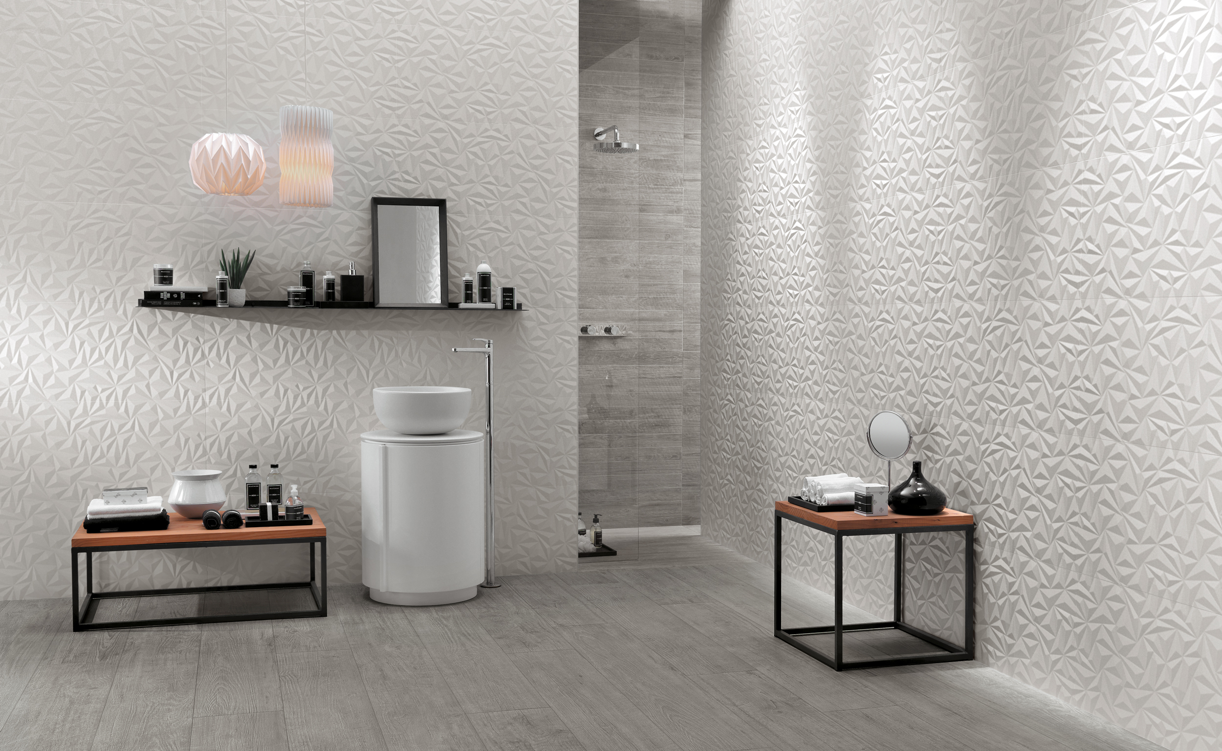 Shape ceramic wall tile in Angle