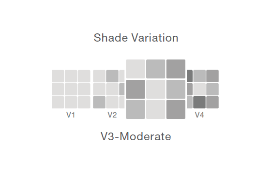 Shade variation: V3 - moderate