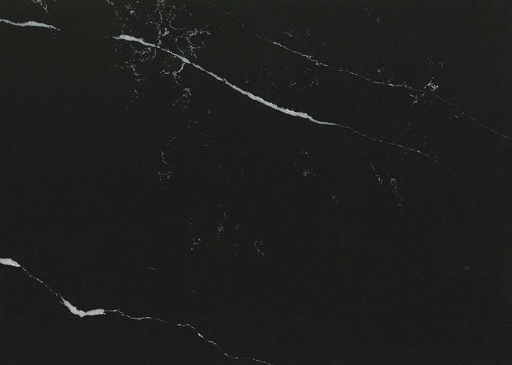 Sequel Quartz countertop in black