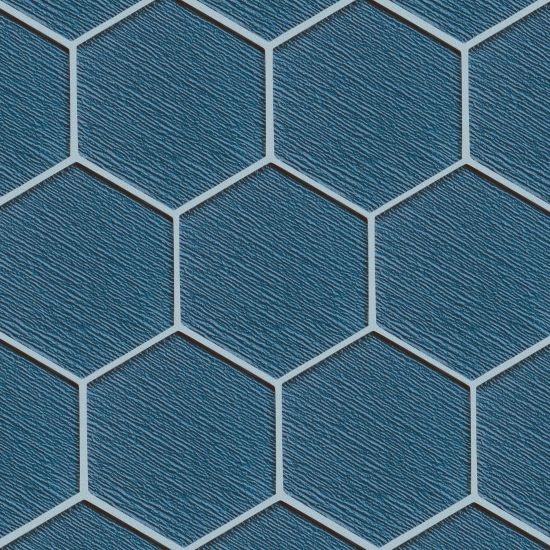 Verve Summer Nights Charisma Hex textured gloss glass tile