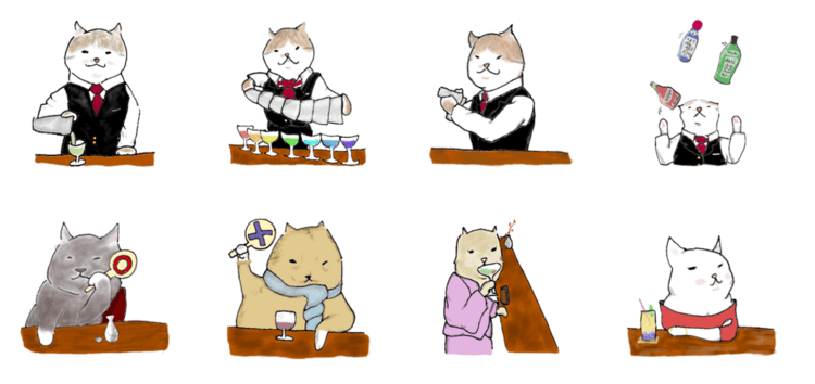 Cat Bar 溫柔的貓咪酒保 (copyright : winecat )