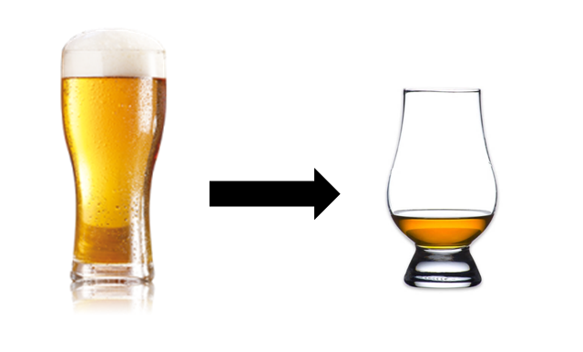 beer whisky