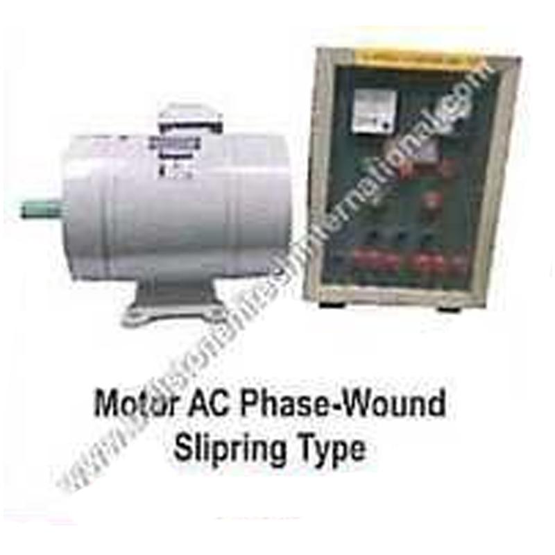 Motor AC phase - Wound Slipring Type