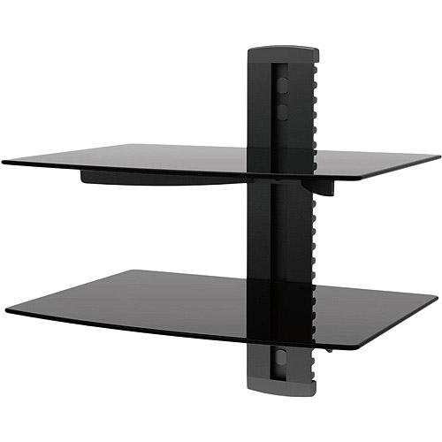 2 Shelf Wall Mount Bracket for TV Components
