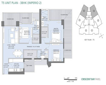 L&T Crescent Bay Parel Floor Plan - T5 (3 BHK) Imperio 2