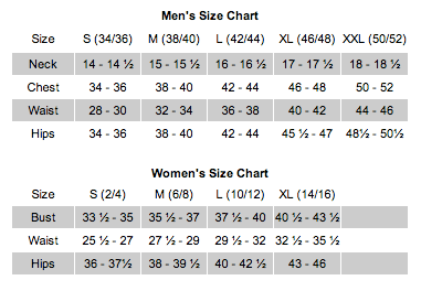 BibiTees size-chart