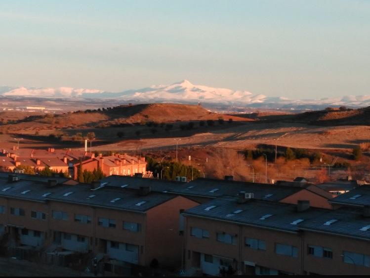 Peak Ocejón in Guadalajara, Spain, January 2018