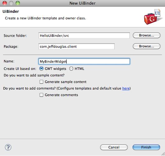 Eclipse Google App Engine Tutorial: GWT UiBinder Hello World Tutorial