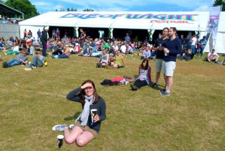VIP at Isle of Wight Festival