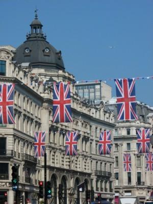Union Jack flags, Regent Street