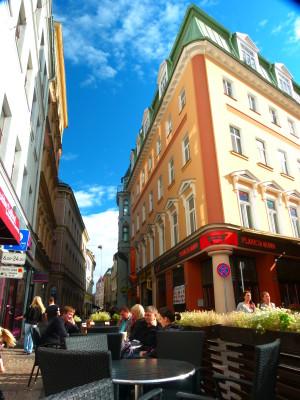 Old Town Riga Coffee in the Sun
