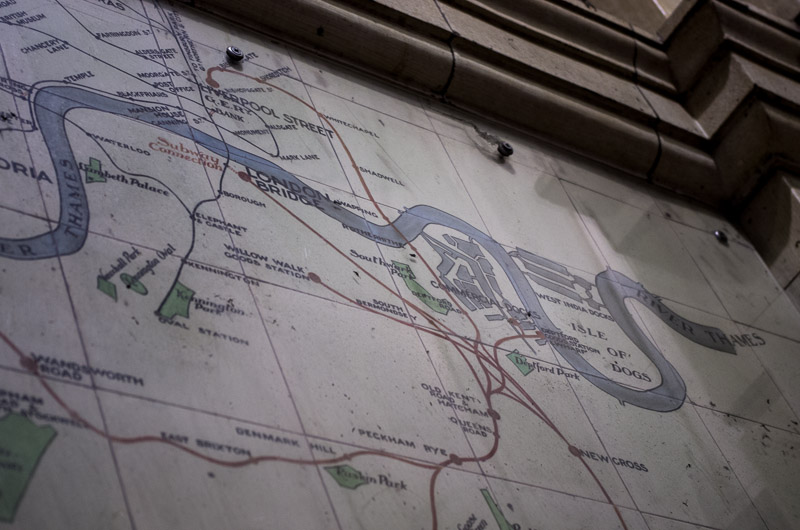 Old Train Map Victoria Station London