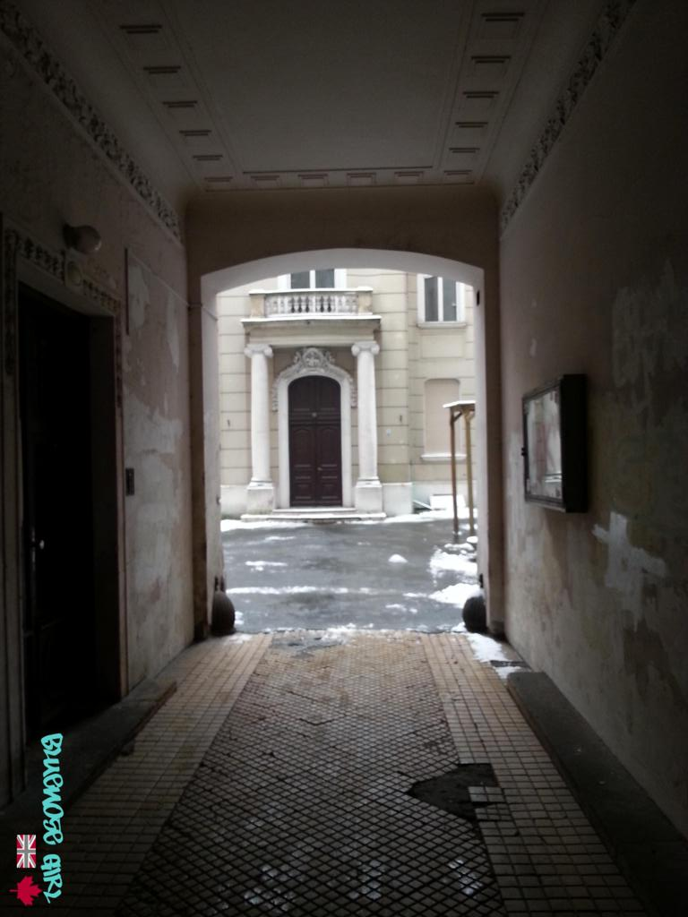 The above photo shows the entrance through to the courtyard and the hidden Rusiecki Palace