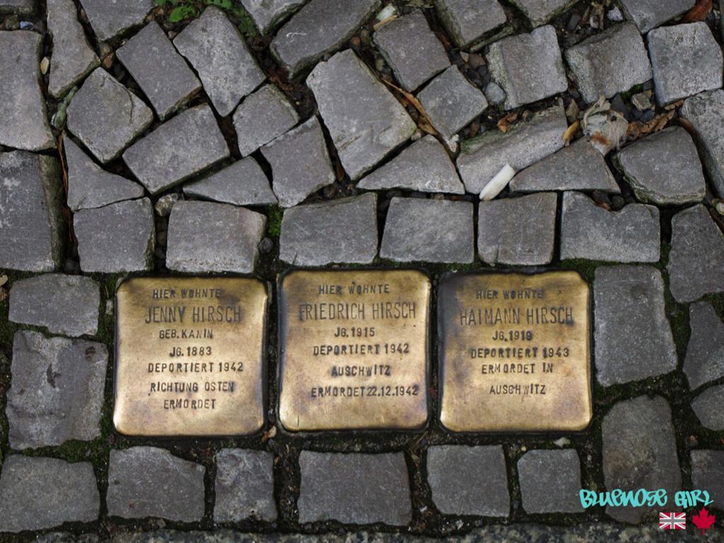 memorial stones Stolperstien stumbling stones