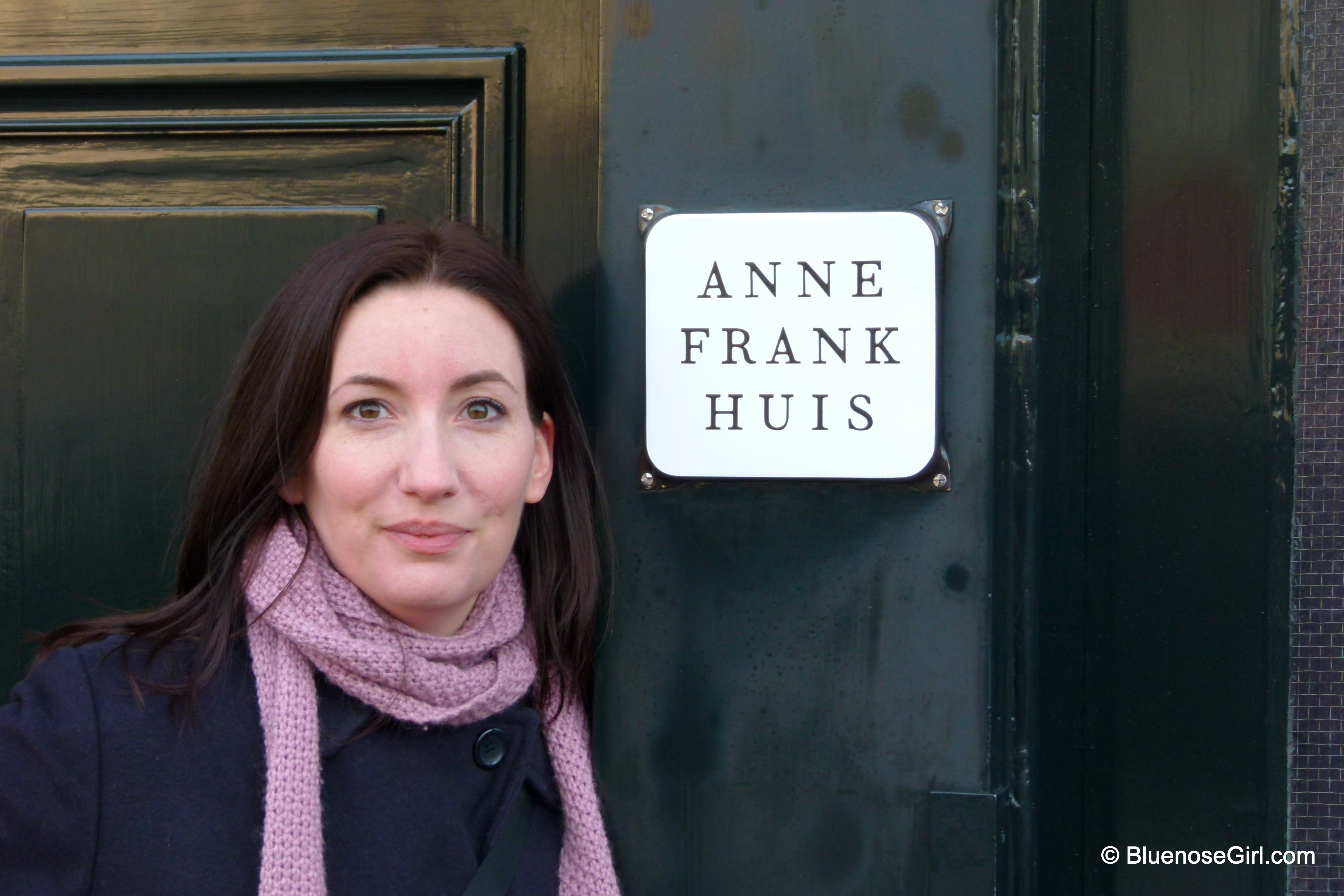 me in-front of the Anne Frank House