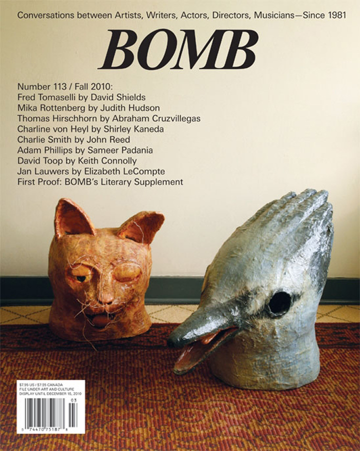 The cover of BOMB 113