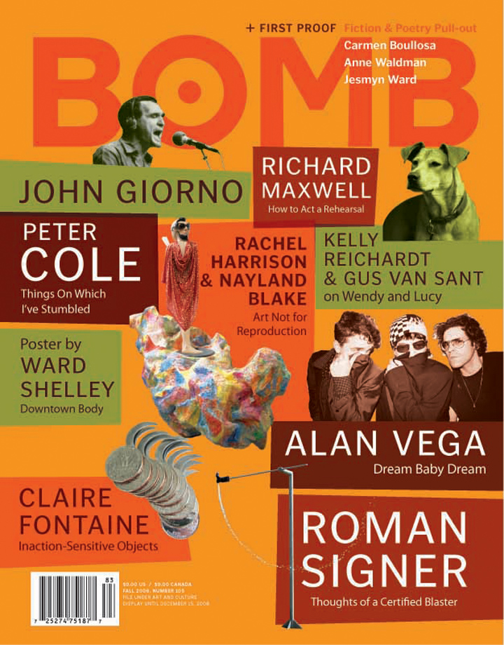 The cover of BOMB 105