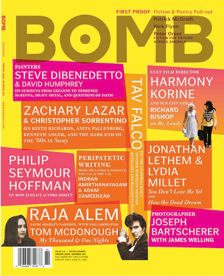 The cover of BOMB 103