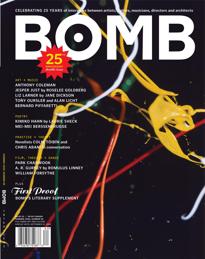 The cover of BOMB 96