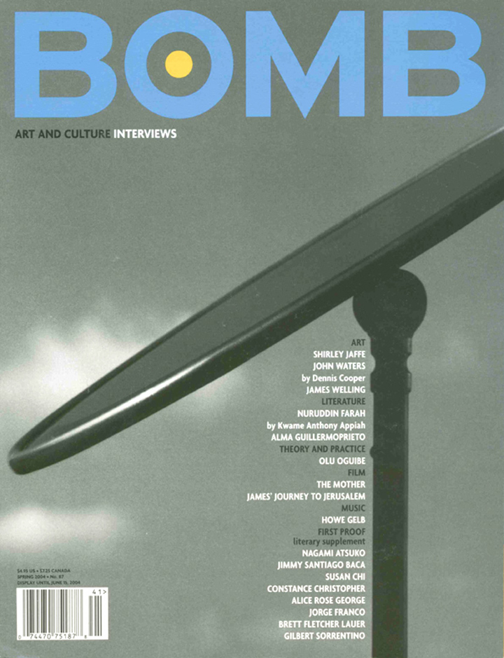 The cover of BOMB 87
